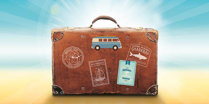 Красивый чемодан