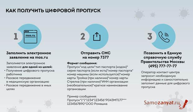 Где можно получить пропуск самозанятым в Москве