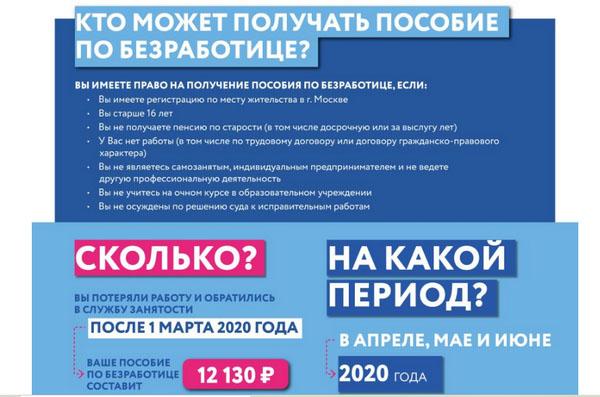 Региональная компенсация по безработице в Москве